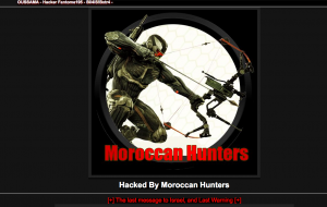 A personal website of Israeli photographer that was hacked by Moroccan Hunters.